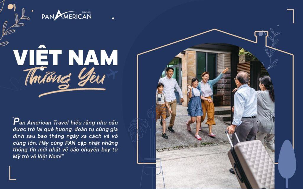 các chuyến bay từ Mỹ về Việt Nam